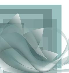 Corner pattern waves whit flower background vector image