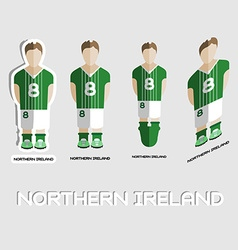 Northern ireland soccer team sportswear template vector