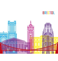 Bristol skyline pop vector