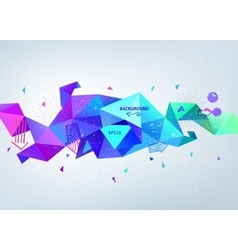 Abstract colorful blue faceted crystal vector
