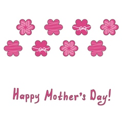 Mothers day greeting card with pink flowers vector