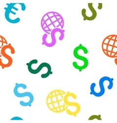 Global economics flat seamless pattern vector