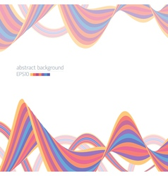 Abstract background with striped ribbons vector