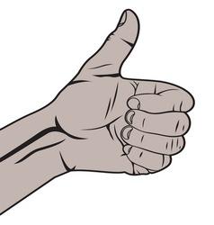 Autostoperski prst crni vector image vector image