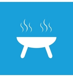 Barbecue grill icon white vector
