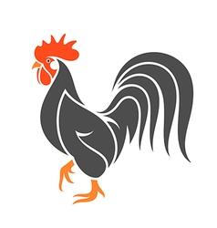 Black chicken vector image vector image
