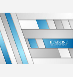 Blue and grey concept corporate background vector