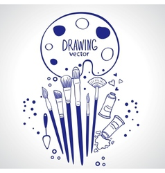 brushes vector image