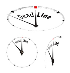 Deadline Clock vector image