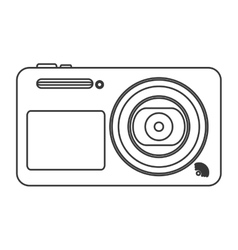 Digital photographic camera icon line design vector