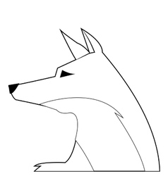 Face of fox icon vector