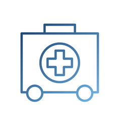 First aid kit health help and medical diagnostics vector