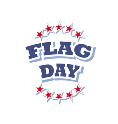 flag day america logo isolated on white background vector image vector image