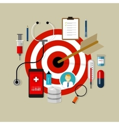 Health medication target effective drug obama care vector