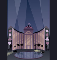 hotel and casino vector image