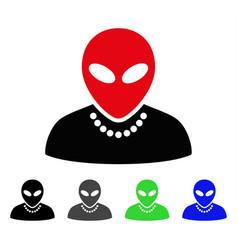 Humanoid flat icon vector