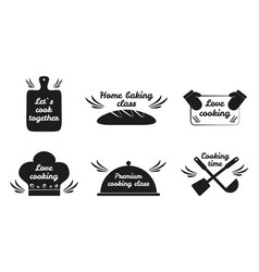 lets cook together icon set vector image vector image