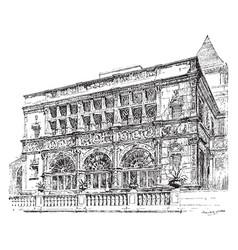 Mansion vintage vector