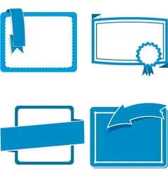 Message card and banner blue vector