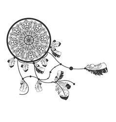 Native american dreamcatcher vector