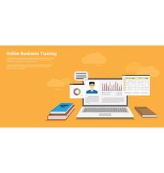 online training vector image