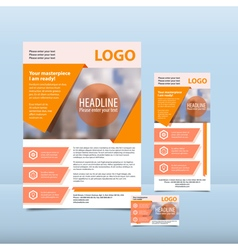 Orange annual report vector