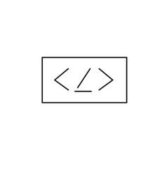 programming code line icon vector image vector image