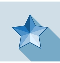 Star icon on white background vector