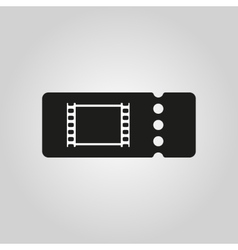 The blank cinema ticket icon vector image vector image