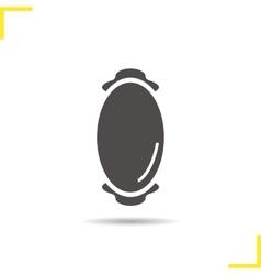 Wall mirror icon vector