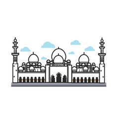 White big arabian temple vector