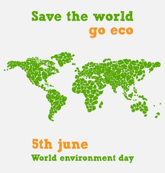 World environment day - fifth june save the world vector