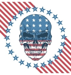 Urban label with skull vector image