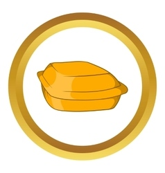 Food container icon vector
