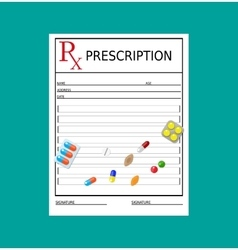 Prescription healthcare medical diagnostics vector