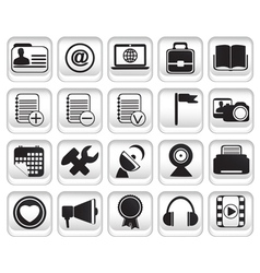 Set community buttons icons part 2 vector