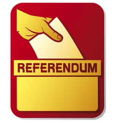 voting in the referendum - of a ballo vector image