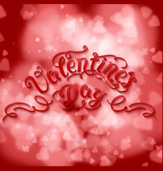 Valentines day card elegant white vector