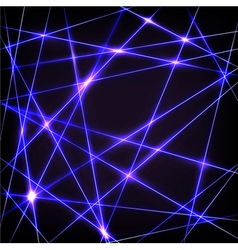 Chaotic crossing neon lines vector