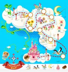 Pirate Treasure Map Sky Castle vector image