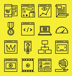 Seo and internet service icons vector
