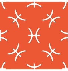 Orange pisces pattern vector