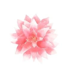 watercolor lotus flower pink vector image