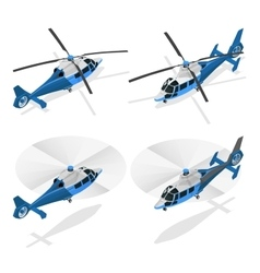 Helicopters isolated on white - flat 3d vector