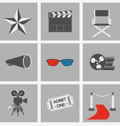 Icons set cinema vector