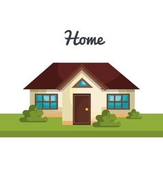 Beautiful home design vector