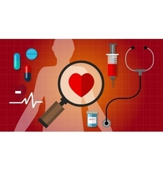 Heart failurea disease healthy red pulse problem vector