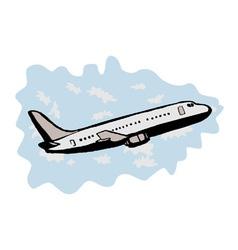 Jumbo jet airplane taking off vector