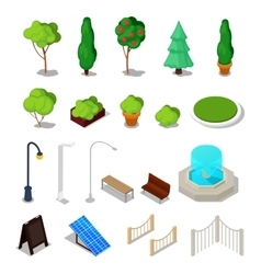 Isometric city facilities different urban stuff vector