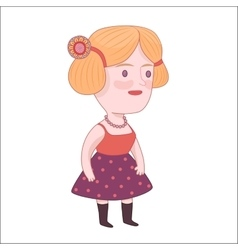 Pretty girl dodo people collection vector